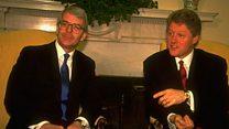 Bill Clinton meets John Major in 1993