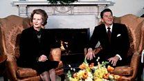 Margaret Thatcher meets Ronald Reagan in 1981