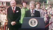 Jimmy Carter meets James Callaghan in 1977