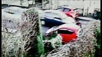 Woman escapes icy road crash unhurt