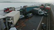 Велика аварія на автомагістралі у Польщі