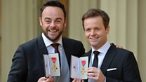 Ant and Dec appointed OBE