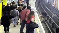 Football fan jailed for Tube track push