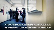 Punched teacher 'left in shock'