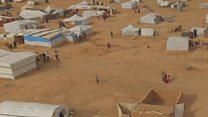 بي بي سي ترصد أوضاع اللاجئين في مخيم الركبان على حدود سوريا مع الأردن