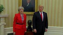 دیدار نخست وزیر بریتانیا و دونالد ترامپ