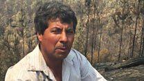 Desgarrador testimonio de un agricultor en Chile que perdió su hogar por los incendios