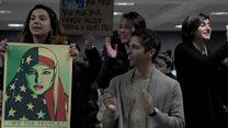 Protestas en aeropuertos de EE.UU. contra prohibición de entrada de refugiados y de ciudadanos de ciertos países musulmanes