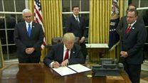 دستورهای رئیس جمهوری جدید آمریکا در یک هفته اول کارش