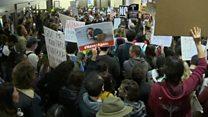 اعتراض مردم و سازمان های مدنی به دستور رئیس جمهوری آمریکا