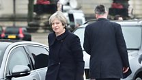 PM arrives for Brexit talks in Cardiff
