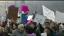 ТВ-новости: протесты против Трампа