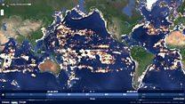 Fishing ships around the world
