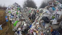 Pile of rubbish dumped at beauty spot