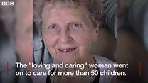 Foster mother strangler jailed for life
