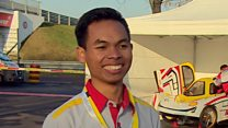 Engineering students living F1 dream