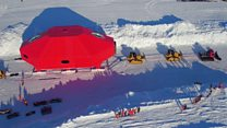 Antarctic base on the move