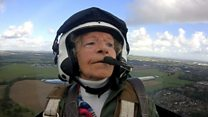 Spitfire pilot flies again on birthday