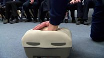Ipswich Town footballers get CPR lesson