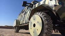 Armoured SUVs for anti-IS fighters