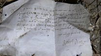17th century shopping list found under floorboards