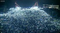 Тисячі вогнів на протесті в Румунії