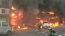 ไฟไหม้โรงนวดเท้าในจีนคร่า 18 ชีวิต