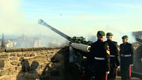 Queen's Sapphire Jubilee 21-gun salute