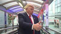 'Era mais divertido antes da eleição': o americano que ganha a vida imitando Trump