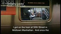 ニューヨーク地下鉄に憎悪落書き 乗客が協力して消す