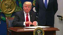 واشنطن ومينيسوتا ترفعان دعوى ضد الرئيس الاميركي
