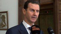 """الأسد """" التحالف الأمريكي ضد تنظيم الدولة وهمي"""""""