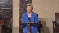Senator Warren shut down in US Senate