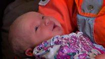 Parents meet medics who saved baby