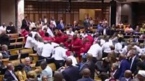Punches thrown in S Africa parliament