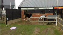 Ram-raid trashes shop at TV star's farm