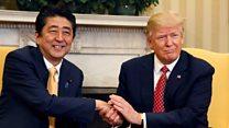 特朗普会见日本首相安倍晋三