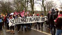 Trump protest held in Edinburgh
