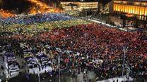 Romania's colourful phone protest