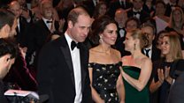 Royals and stars on the red carpet at the Baftas