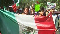 Las masivas marchas en México para rechazar las políticas de Donald Trump