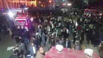لاہور مال روڈ پر دھماکے کے بعد کے مناطر