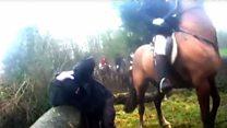 Saboteur 'assaulted' by fox hunter