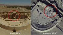 روسيا تبث صور دمار لآثار تاريخية في تدمر