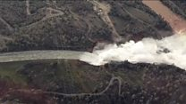 Aerials show force from US dam