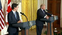 Trump and Trudeau sidestep differences