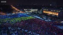Hàng ngàn người biểu tình ở Bucharest, Romania đòi lãnh đạo từ chức