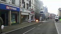 Suspected gas explosion in town centre
