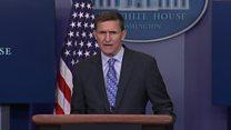 مردی که از تریبون کاخ سفید به ایران هشدار جدی داد، نیامده، رفت