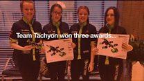 Champion F1 schools team celebrated